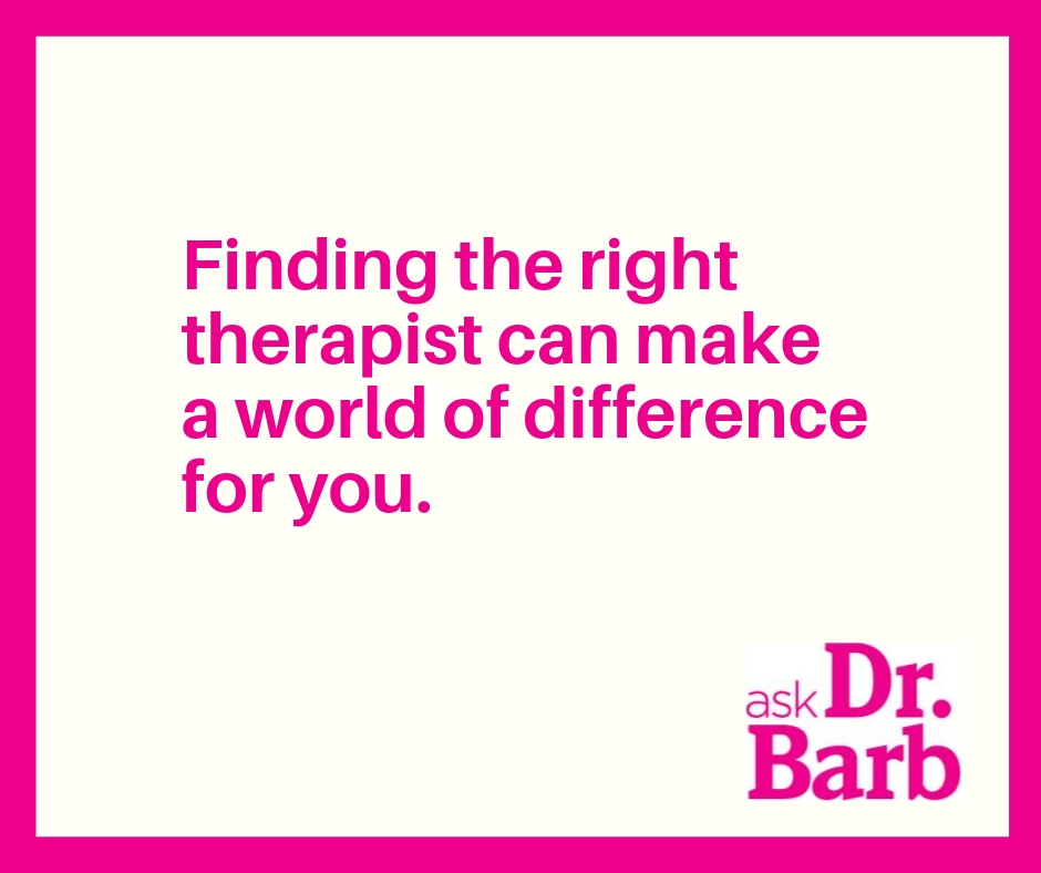 Callout: Finding the right therapist