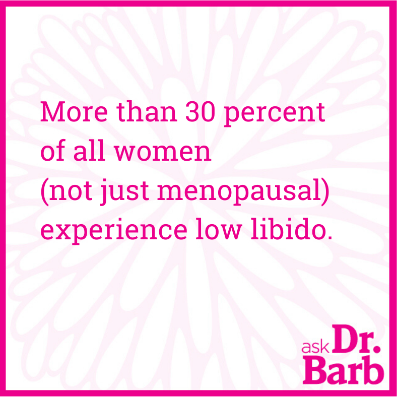 More than 30 percent of all women (not just menopausal) experience low libido.